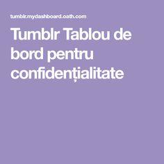 Tumblr Tablou de bord pentru confidențialitate Tumblr, Tumbler