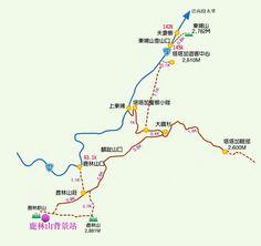 Taiwan Yushan tataka map 玉山 塔塔加