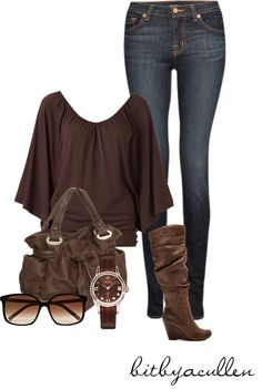 """Chocolate Brown"" by bitbyacullen on Polyvore"