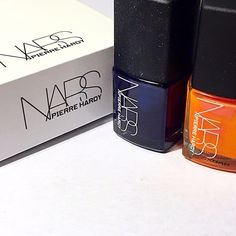 """Nars nail polish Pierre Hardy collection Brand new set of two nail polishes. Comes with original box plus a drawstring bag. Colors are """"ethno run left,"""" a bright summery orange, and """"ethno run right'"""" a beautiful midnight blue. NARS Makeup"""