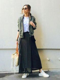 ファッション ファッション in 2020 Fashion Mode, Modest Fashion, Look Fashion, Hijab Fashion, Fashion Outfits, Womens Fashion, Long Skirt Fashion, Casual Skirt Outfits, Mode Outfits
