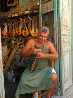 Outi, lyra crete and bouzouki shop in Rethymnon Mykonos, Santorini, Heraklion, Crete Rethymnon, Rethymno Crete, Corfu, Albania, People Around The World, Around The Worlds