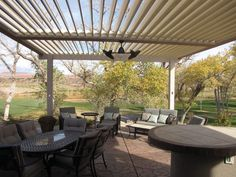 Transform Your Outdoor Living Pace With Equinox Louvered Patio Covers   The  Equinox® XP Louvered Roof System Is A Versatile, Solar Powered, And  Motorized ...