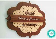 Letrero Happy Holidays