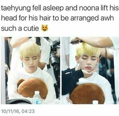 Baby him! He needs it! I can't handle how funny and cute he is ♡ #V #Taehyung #BTS