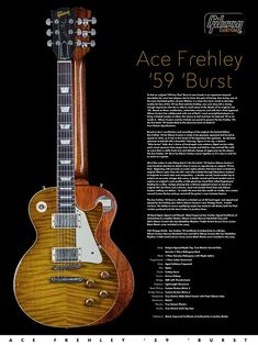 Music Guitar, Cool Guitar, Acoustic Guitar, Guitar Posters, Guitar Photos, Les Paul Guitars, Les Paul Standard, Ace Frehley, Gibson Guitars
