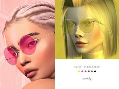 The Sims Resource - Elisa glasses by Serenity for The Sims 4