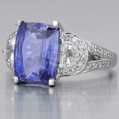 Ceylon sapphire engagement ring, beautiful color!