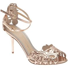 cf8e7f97a4 CHARLOTTE OLYMPIA - Margherita metallic lace sandal Mid Heel Sandals