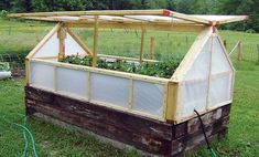 Share This!If you're thrifty and can find some used materials, you can make a very cozy raised bed mini-greenhouse to extend your garden season at almost no cost! Check out this simple and affordable idea for building a small greenhouse to keep your garden growing into the fall and winter months! In this version, used …
