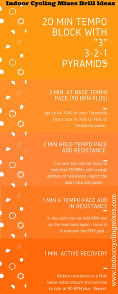 Indoor Cycling Routines for Instructors I define a Tempo drill as a Ride where we focus our cadence above 90+ rpm in the Tempo zone under enough resistance to be working and uncomfortable but able to ride through with mental focus. In general this increases aerobic fitness, muscular endurance and training stress. If you are […]