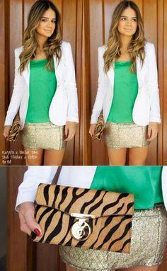 Gold Skirt - Thassia Naves