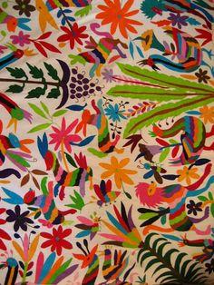 メキシコ・オトミ族の刺繍クロス・ベットカバーサイズ