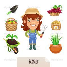 농부 일러스트 - Google 검색
