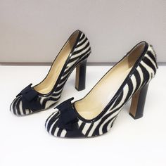 "Kate Spade Jocelyn Heels Super adorable zebra print heels with classic bow and gold hardware. Good condition, there is wear and nicks on the heel. Heel height 4"" kate spade Shoes Heels"