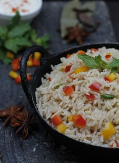 Lite Bite > Party Menu - Easy Vegetable Fried Rice & Yogurt Raita