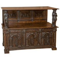 English Renaissance Credenza | From a unique collection of antique and modern credenzas at https://www.1stdibs.com/furniture/storage-case-pieces/credenzas/