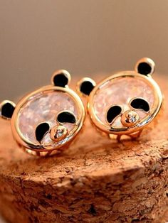 cute panda earrings They are a novelty piece That is the jewelry place