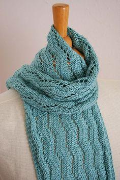 lacy zigzag scarf knitting pattern