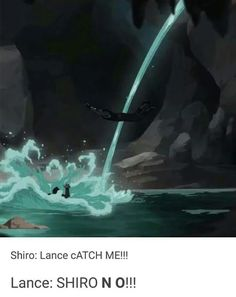 Let's just take a moment to realize that Shiro belly flopped into the cave <<< 'guess I'll die' Form Voltron, Voltron Ships, Voltron Klance, Shiro Voltron, Voltron Comics, Voltron Memes, Netflix, Doja Cat, Space Cat
