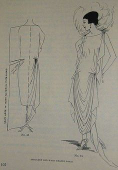 ABC in Dressmaking from 1923 Easy Great Gatsby Design for Beginners - Pattern making book. – Interesting pattern for a dress - 1920s Dress Pattern, Vintage Dress Patterns, Clothing Patterns, Shirt Patterns, Sewing Tutorials, Sewing Crafts, Sewing Projects, Pattern Making Books, Style Année 20