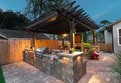 Take dinner outside with an outdoor kitchen from Tremron