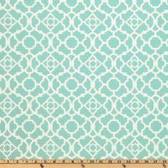 54'' Wide Waverly Sun N Shade Lovely Lattice Lagoon Fabric By The Yard $10.98