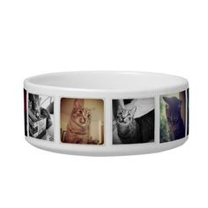 DIY Instagram Pet Bowls $12.95 Personalize this bowl with instagram photos of your cat or cats. Just replace the existing instagram photos of my cats with with your own and your done. Dogs are welcome! #pets #uniquepets #petbowls #petfood #catbowl #dogbowl #foodbowl #instagram #instagramgifts #DIY #DIYcats #instagram #instagrampets