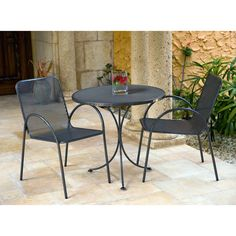 Woodard Avalon Patio Bistro Set   Set Your Patio Furniture Collection Apart  With The Modern Style And Minimalist Appeal Of The Woodard Avalon Patio  Bistro ...