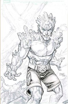 Awesome Art Picks: Iceman Auction your comics on www.comicbazaar.co.uk