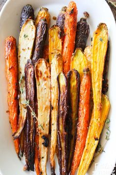 Ginger Garlic Roasted Carrots I love this recipe because it's easy, full of flavor, and will make your dinner guests think you went to a lot of trouble - when all you had to do was sprinkle some herbs