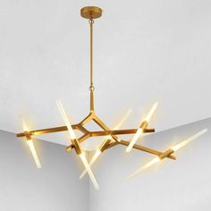 Modern Industrial Sticks Minimalist Pendant Light at Lifeix Design