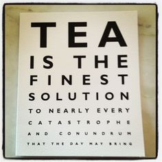 eye chart for tea!  great for shop