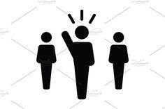 Leader, Leadership, Human Vector. Human Icons. $2.00