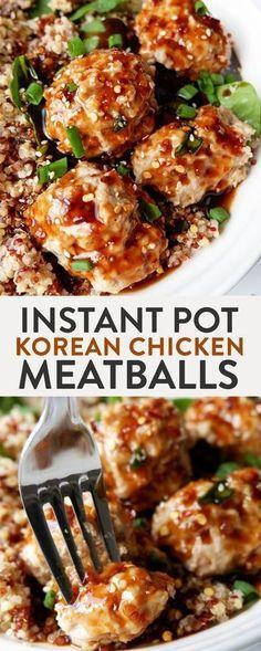 Instant Pot Korean Chicken Meatballs.