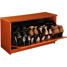 Shoe Cabinet, Single, Cherry, Brown