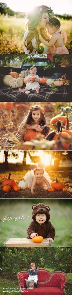 25 Fall Family and Children PicturesLast night I posted 25 stunning fall portraits and I felt it was much needed to split portraits from family Fall Baby Pictures, Fall Family Photos, Kid Pictures, Fall Photos, Holiday Photos, Children Pictures, Fall Pics, Autumn Photography, Children Photography