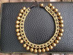 Bracelet anklet/Gold brass beads & jingle by Nannapatt on Etsy, $14.00