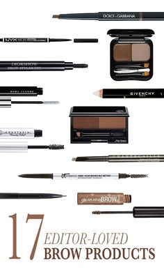 17 Awesome Brow Products Allure Editors Swear By:  Sorry, trend haters—big, bold, holy-wow brows aren't going away anytime soon. And neither are the confusing 20 minutes you spend standing in the makeup aisle deliberating over a handful of brow pencils and powders. So to save you from going insane (or accidentally looking like Groucho Marx), Allure editors share the 17 products that have forever changed their brow game. | allure.com