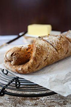 Kastanien Baguette I Chestnut baguette I Sia´s Soulfood Breakfast And Brunch, Baguette, Bread N Butter, Pampered Chef, Nom Nom, Spicy, Sweet, Recipes, Pizza