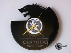 Game of Thrones clock Wall clock Game of Thrones Game by Revinyljr