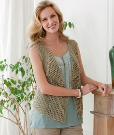 Four Seasons Knit Vest - free knitting pattern All Free Knitting, Knitting Patterns Free, Knit Patterns, Free Pattern, Lace Knitting, Crochet Woman, Knit Or Crochet, Free Crochet, Crochet Summer