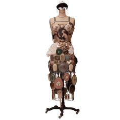 Vintage Dressform Assemblage Sculpture For Sale at 1stdibs