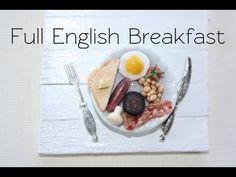 English breakfast tutorial Source by sassycharly Miniature Crafts, Miniature Food, Miniature Tutorials, Clay Tutorials, Video Tutorials, Barbie Food, Doll Food, Tiny Food, Brunch