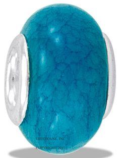 Da Vinci Beads Natural Stone Blue Jade