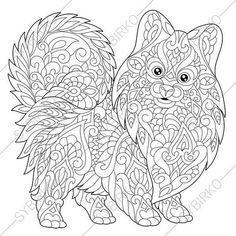 Terrier In Santa Hat Coloring Pages Animal Book