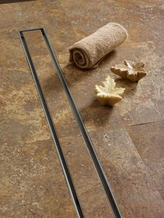 example of curbless drain for brother's shower - QuARTz by ACO Tile In-Lay Linear 27 Grid Shower Drain