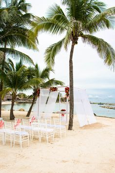 Breathtaking beach ceremony at Dreams Puerto Aventuras Resort & Spa: http://www.stylemepretty.com/2016/07/14/our-fave-destination-weddings-for-a-little-mid-week-pick-me-up/   Photography: Bohemia Photography - http://www.bohemia-photography.com/ #sponsored