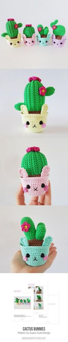 Cactus Bunnies amigurumi pattern