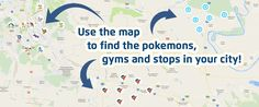 Pokemon Go - Pogostop.com map Pokemon Go Images, Map, City, Maps, City Drawing, Cities